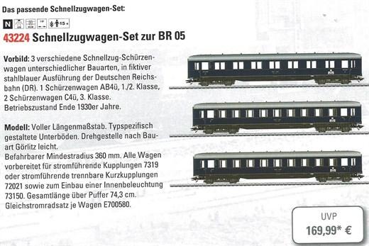Märklin 43224 - Schürzenwagen-Set Messe-Lok