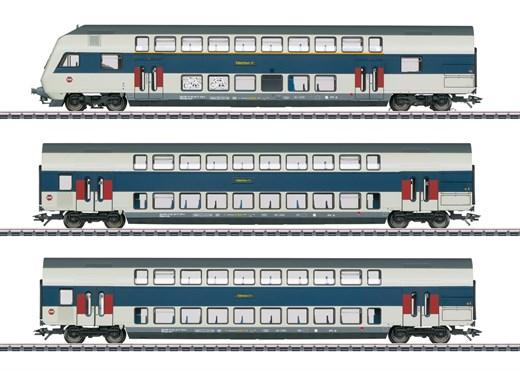 Märklin 43599 - Doppelstockwagen-Set Nahverkehr K