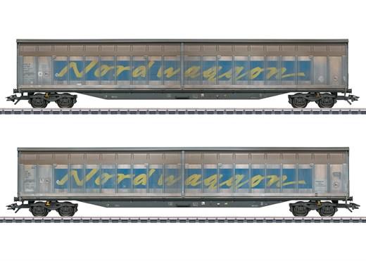 Märklin 48065 - Schiebewandwagen-Set Transwaggon