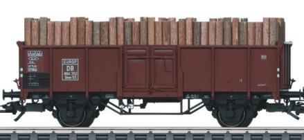 Märklin W048816.005 - Hochbordwagen mit Holzladung