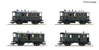 Roco 74187 - 4er Set Personenzug KBayStsB