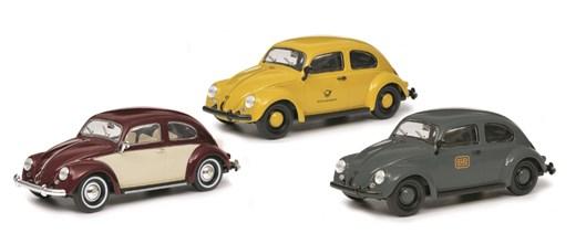 Schuco 450774200 - 3er Set VW Käfer Edition 1:3/