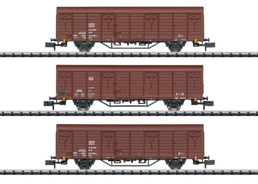 Trix 18901 - Güterwagen-Set Bauart Gbs 258