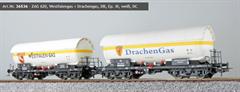 ESU 36536 - Gas-Kesselwagen Set H0, ZAG 620, Westf