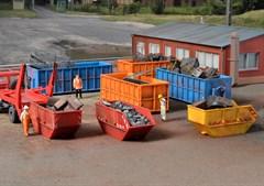 Kibri 38648 - H0 Deko-Set Absetzcontainer