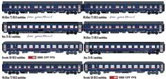 L.S. Models MW2116 - 8er Set Nachtzugwagen ÖBB / N