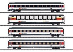 Märklin 43651 - EuroCity 4er-Set, SBB, Ep. VI