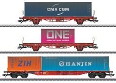 Märklin 47580 - Container-Tragwagen-Set Lgs 580