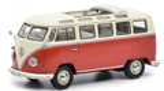 Schuco 450374300 - VW T1b Samba, rot-beige 1:43