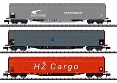 Trix 15116 - Schiebeplanenwagen-Set