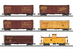 Trix 24914 - Güterwagen-Set, 6 Wagen, U.P.